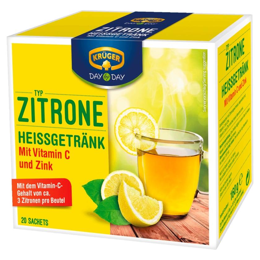 Krüger Heißgetränk Zitrone 160g, 20 Beutel