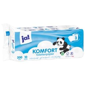 ja! Toilettenpapier 3-lagig 10x200 Blatt