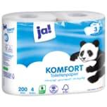 ja! Toilettenpapier 3-lagig 4x200 Blatt