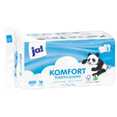 ja! Komfort-Toilettenpapier 3-lagig 16x200 Blatt