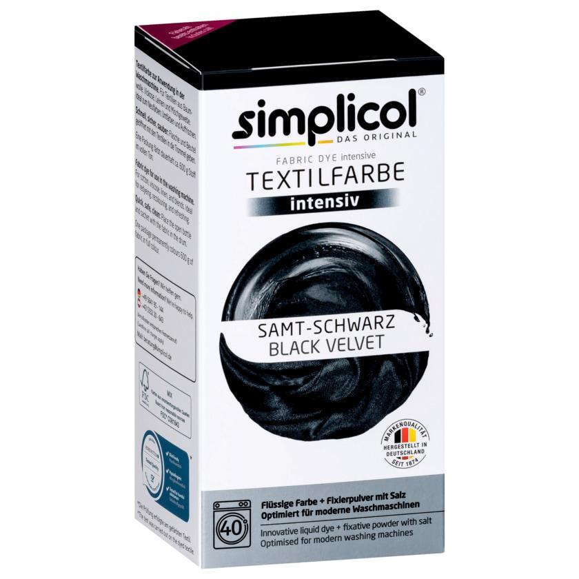Simplicol Textilfarbe Intensiv Samt-Schwarz 550g