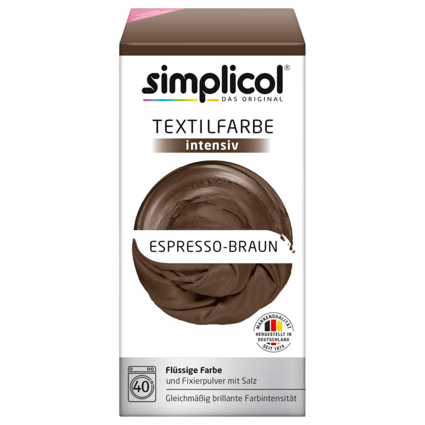 Simplicol Textilfarbe Intensiv Espresso-Braun 550g