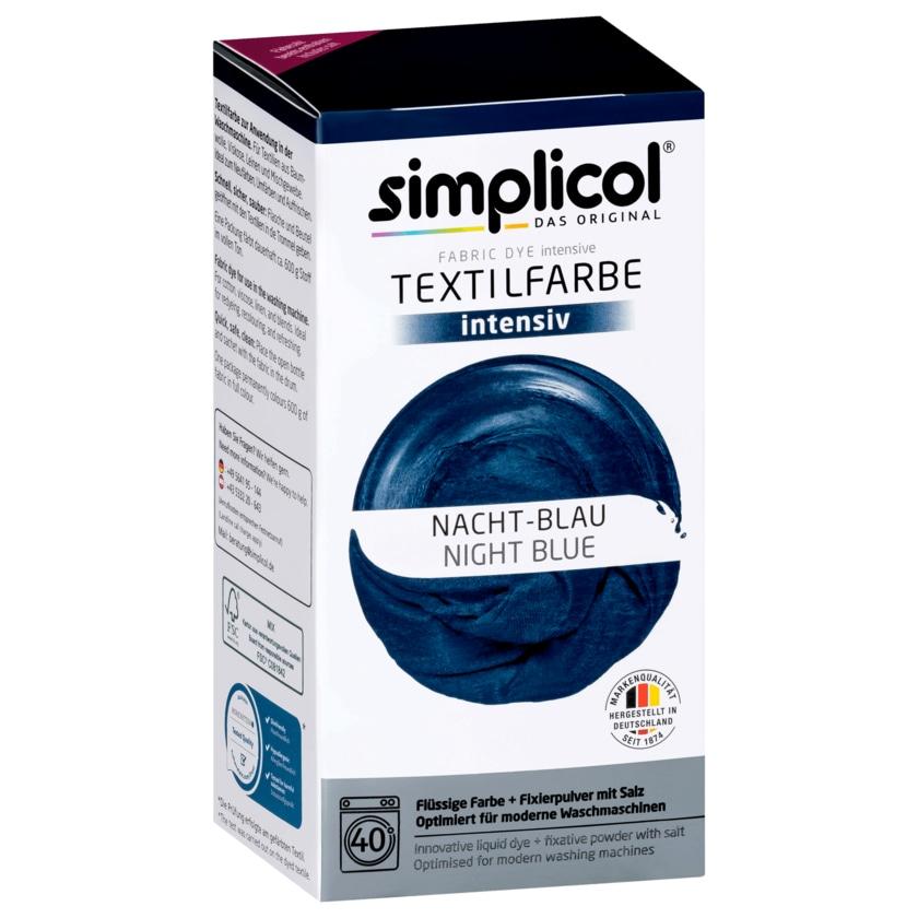 Simplicol Textilfarbe Intensiv Nacht-Blau 550g