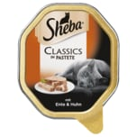 Sheba Classics in Pastete mit Ente & Huhn 85g