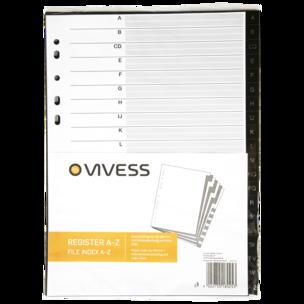 Vivess Ordnerregister A4 20 Stück