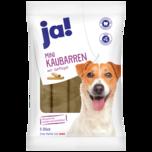 JA! Hundefutter Mini Kaubarren mit Geflügel 5x50g