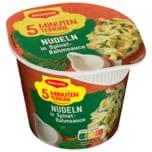 Maggi 5 Minuten Terrine Nudeln in Spinat-Rahm-Sauce 50g