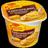 Maggi 5 Minuten Terrine Kartoffelbrei mit Röstzwiebeln und Croutons 56g