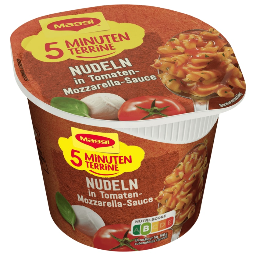 Maggi 5 Minuten Terrine Nudeln in Tomaten-Mozzarella Sauce 55g