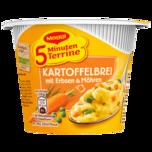 Maggi 5 Minuten Terrine Kartoffelbrei mit Erbsen und Möhren 43g