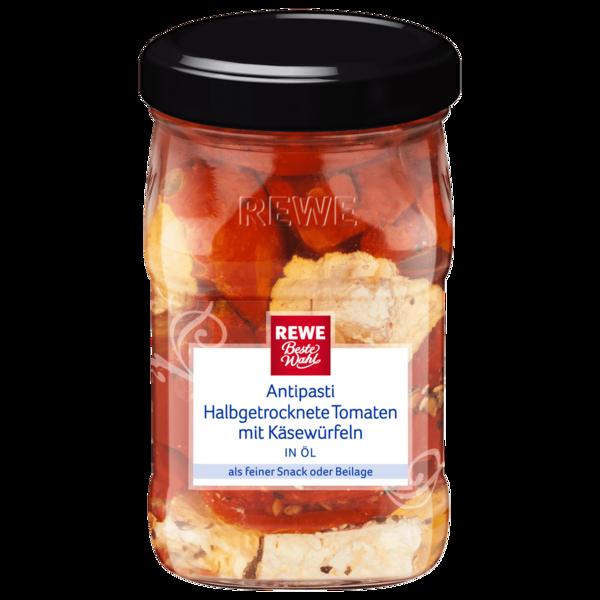 REWE Beste Wahl Getrocknete Tomaten mit Käsewürfeln 314ml