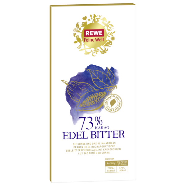 REWE Feine Welt Edel-Bitterschokolade 73% 100g