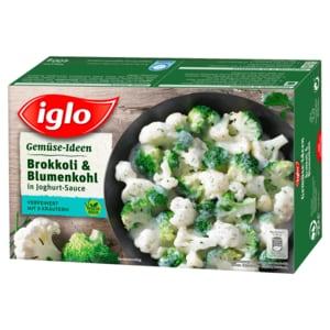 Iglo Gemüse Ideen Brokkoli & Blumenkohl in Joghurt-Sauce 400g