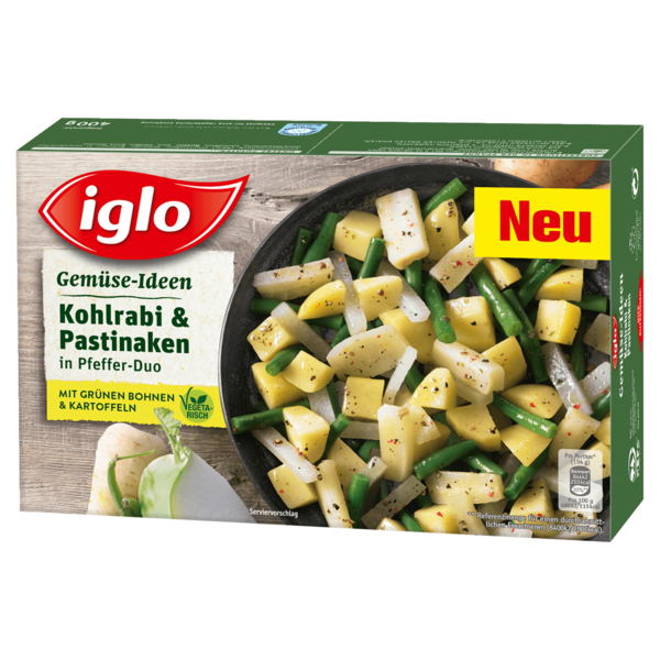 iglo gem se ideen kohlrabi pastinaken 400g bei rewe online bestellen. Black Bedroom Furniture Sets. Home Design Ideas