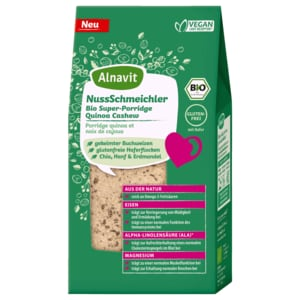 Alnavit NussSchmeichler Bio Super-Porridge Quinoa Cashew 300g