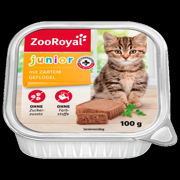 ZooRoyal Katzennahrung Junior mit Geflügel 100g