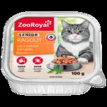 ZooRoyal Katzennahrung Senior Ragout mit Geflügel 100g