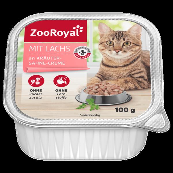 ZooRoyal Lachs an Kräuter-Sahne-Creme 100g