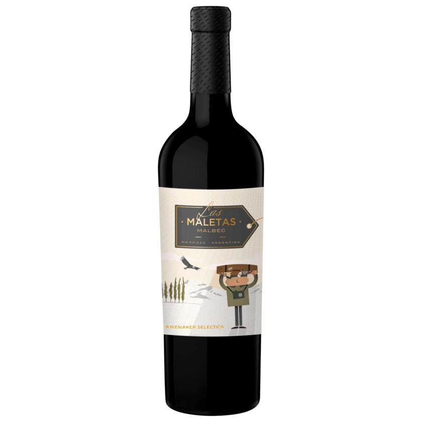 Las Maletas Rotwein Malbec trocken 0,75l