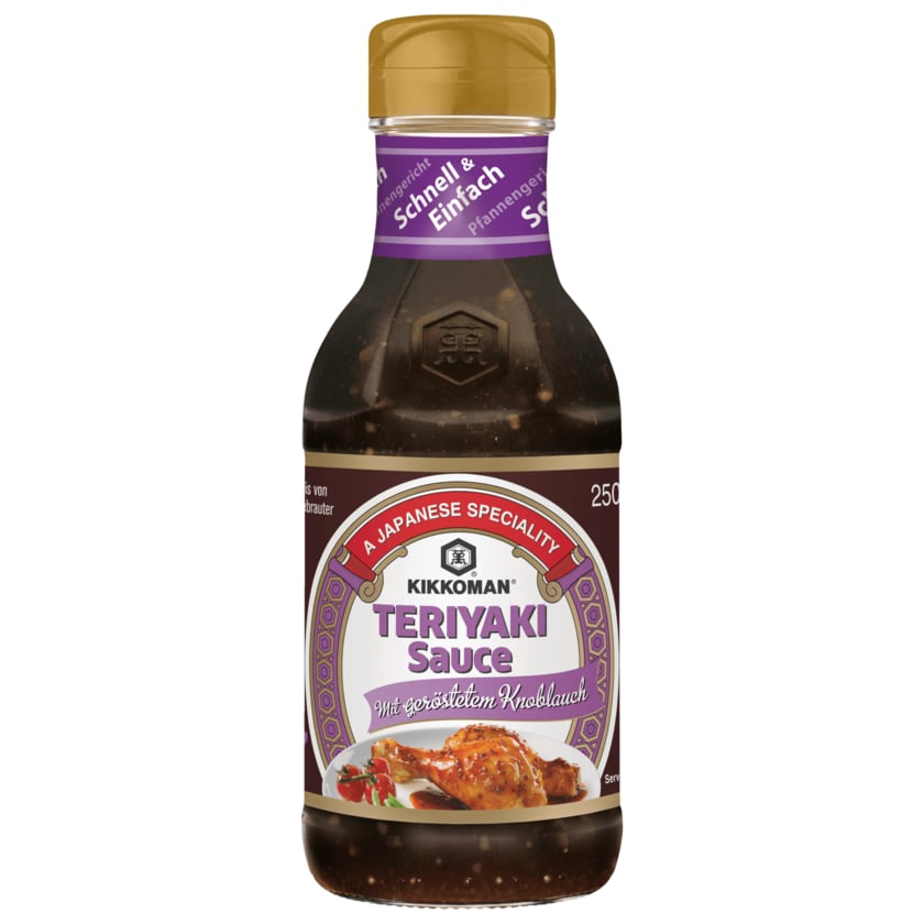 Kikkoman Teriyaki Sauce Knoblauch 250ml