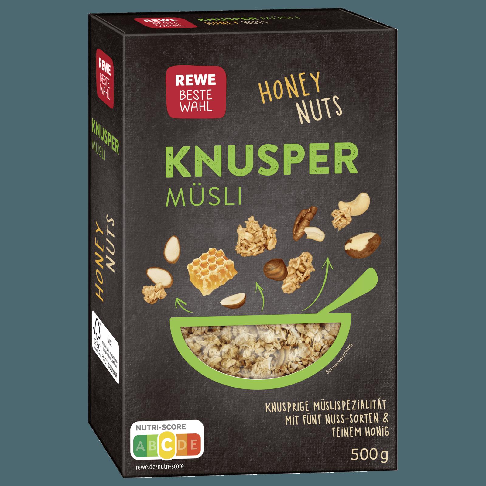 Rewe Beste Wahl Knusper Musli Honig Nuss 500g Bei Rewe Online Bestellen