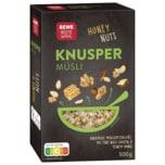 REWE Beste Wahl Knusper Müsli Honig Nuss 500g