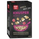 REWE Beste Wahl Knusper Müsli weiße Schokolade Himbeere 500g