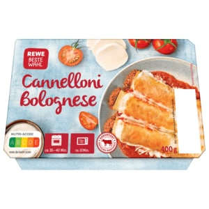 REWE Beste Wahl Cannelloni Bolognese 400g