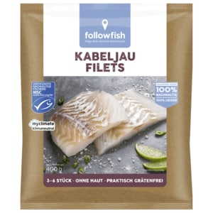 Follwofish Kabeljau Filets MSC 400g