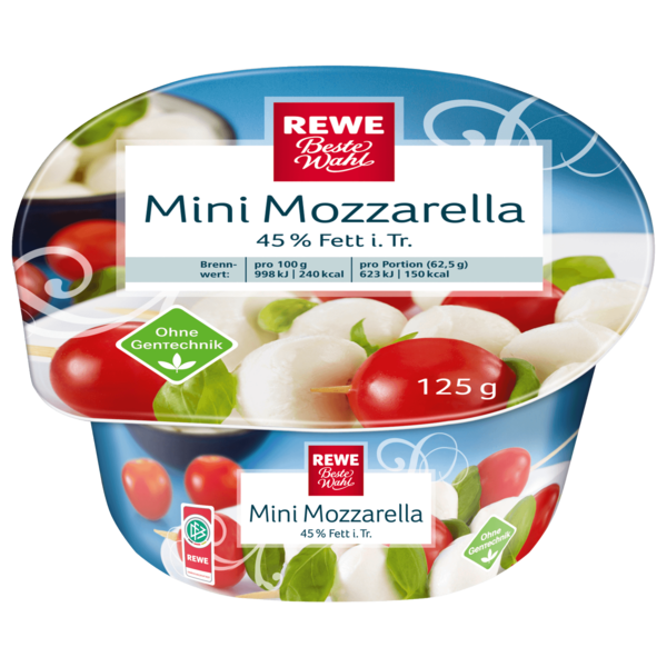 REWE Beste Wahl Mini Mozzarella 125g