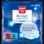 REWE Beste Wahl Ultra Binde Nacht mit Flügeln 10 Stück
