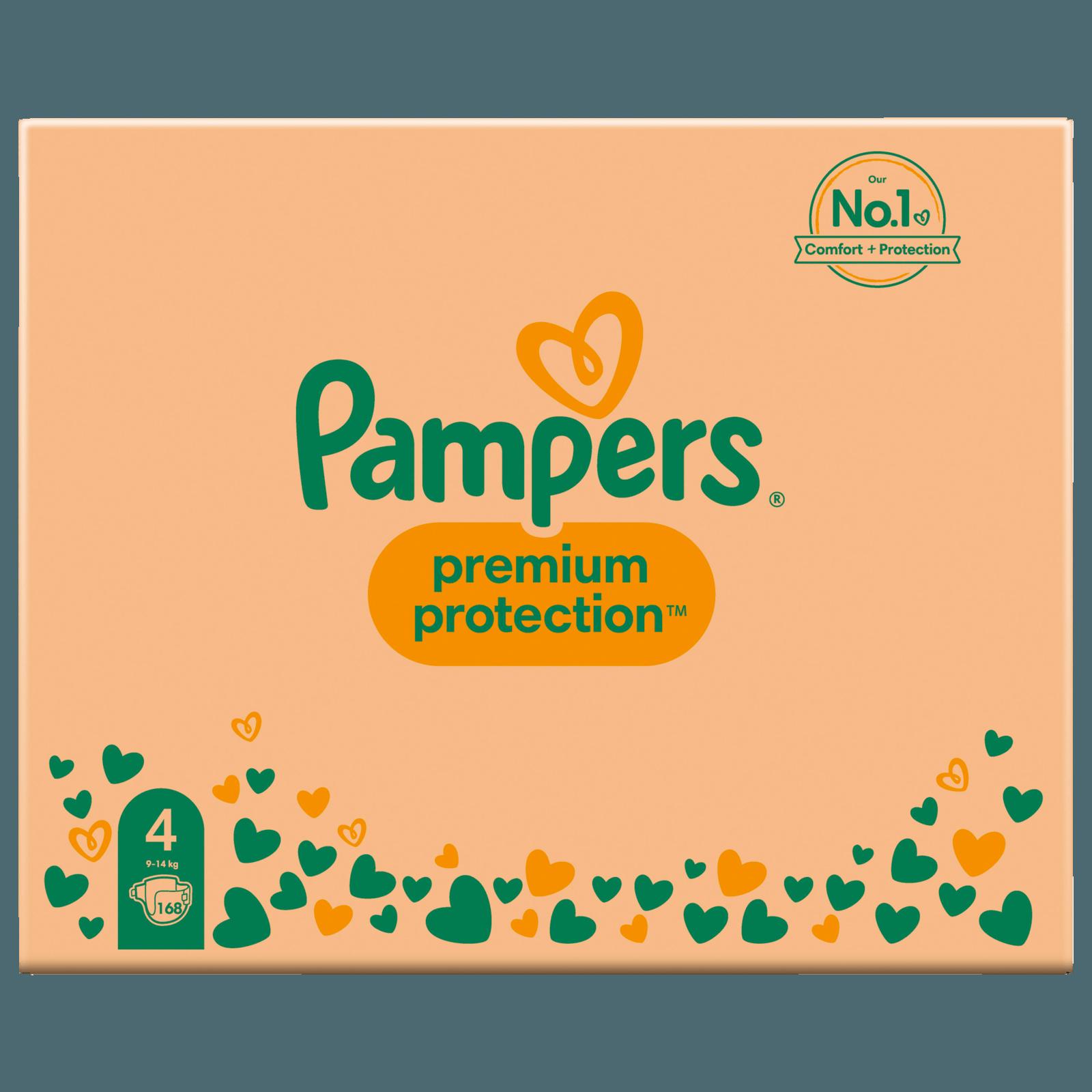 Pampers Premium Protection Gr. 4 Maxi 8-16kg Monatsbox 168 Stück