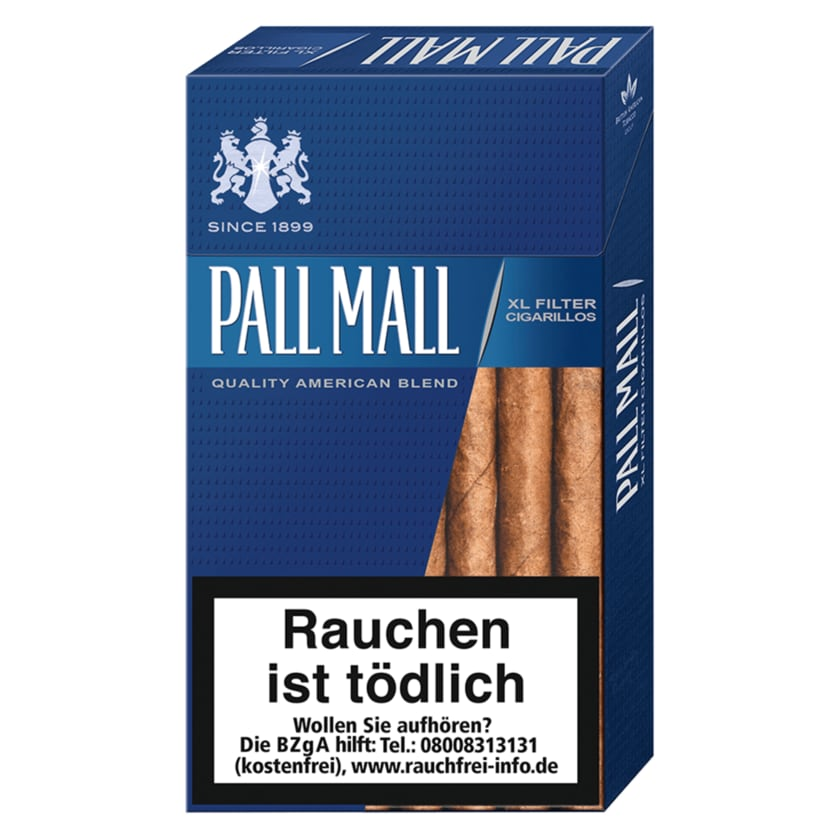 Pall Mall Filter Zigarillos XL Smooth Taste 17 Stück