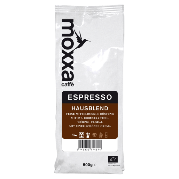 Moxxa Bio Espresso ganze Bohne 500g
