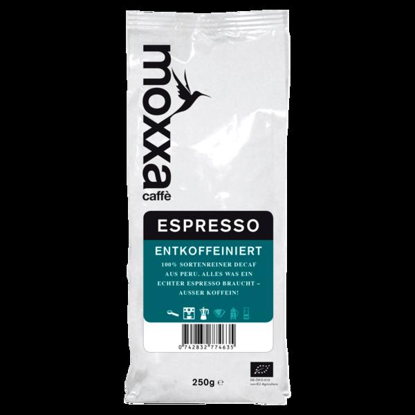 Moxxa Bio Espresso Decaf ganze Bohne 250g