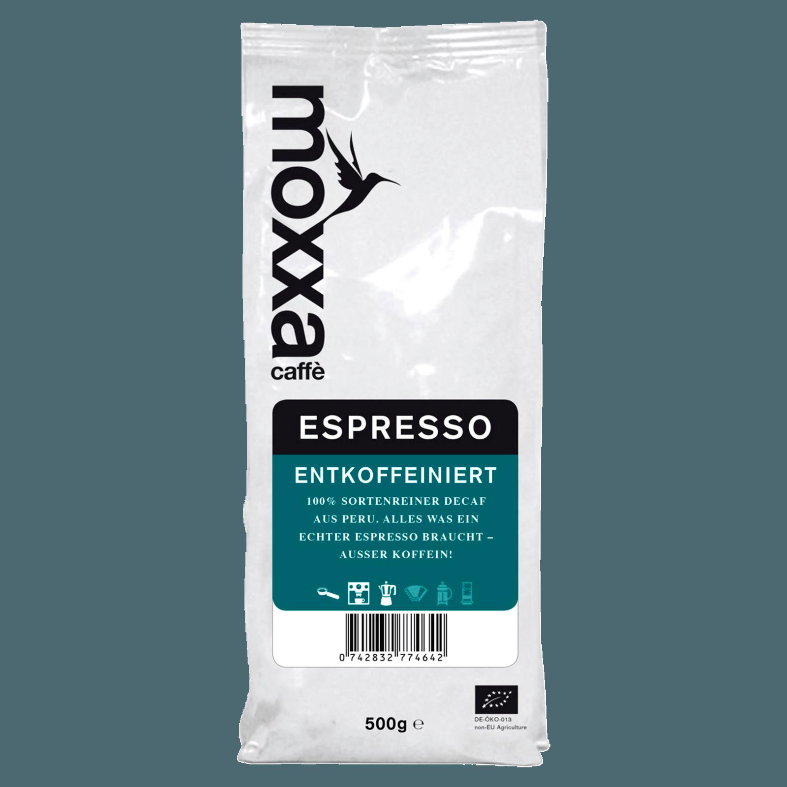 Moxxa Espresso Decaf ganze Bohne 500g