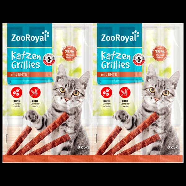ZooRoyal Katzen-Grillies mit Ente 8x5g