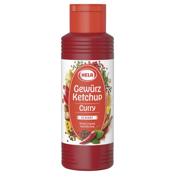 Hela Curry Gewürz Ketchup scharf 300ml
