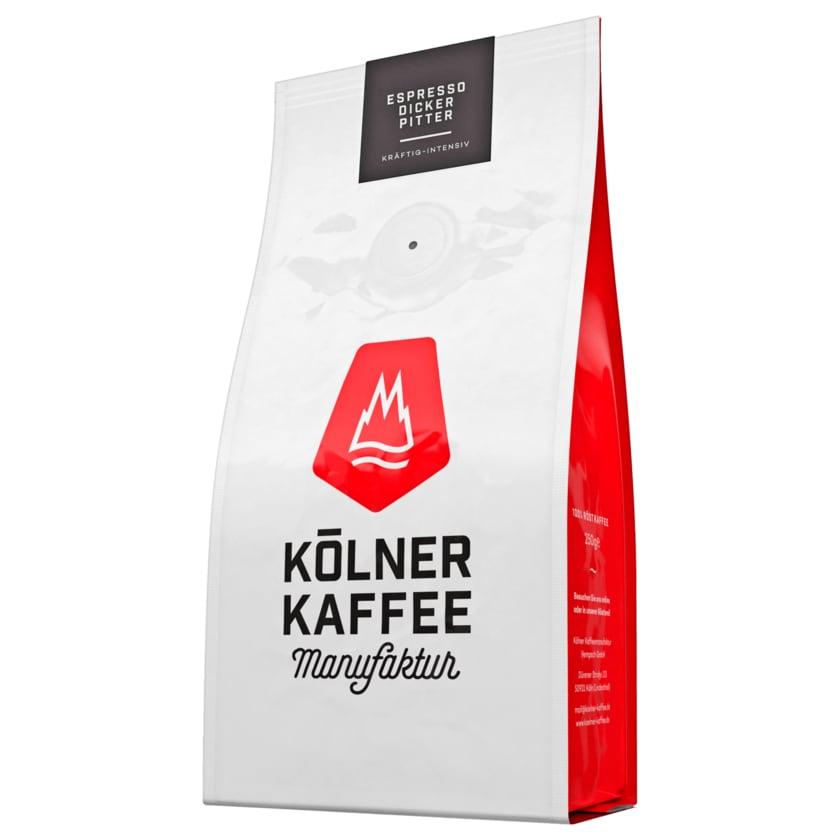 Kölner Kaffee Espresso Dicker Pitter Bohne 250g