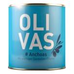 Olivas Anchoas grüne Oliven mit würziger Sardellen-Creme 80g