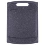 Steuber Schneidebrett Granit-Optik 29x20cm schwarz