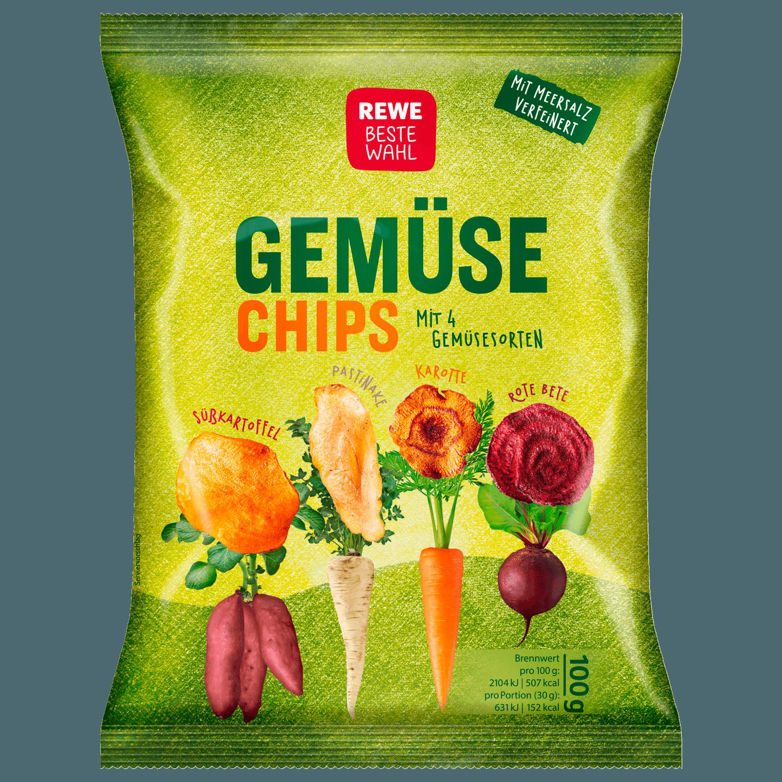 REWE Beste Wahl Gemüsechips gesalzen 100g
