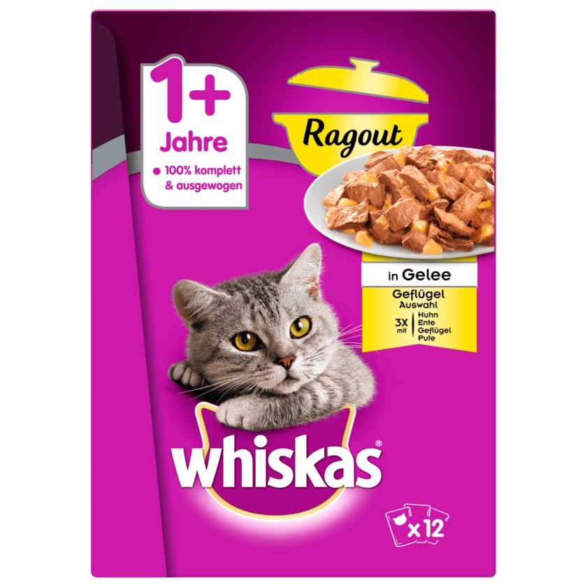Whiskas 1+ Ragout Geflügelauswahl in Gelee 12x85g