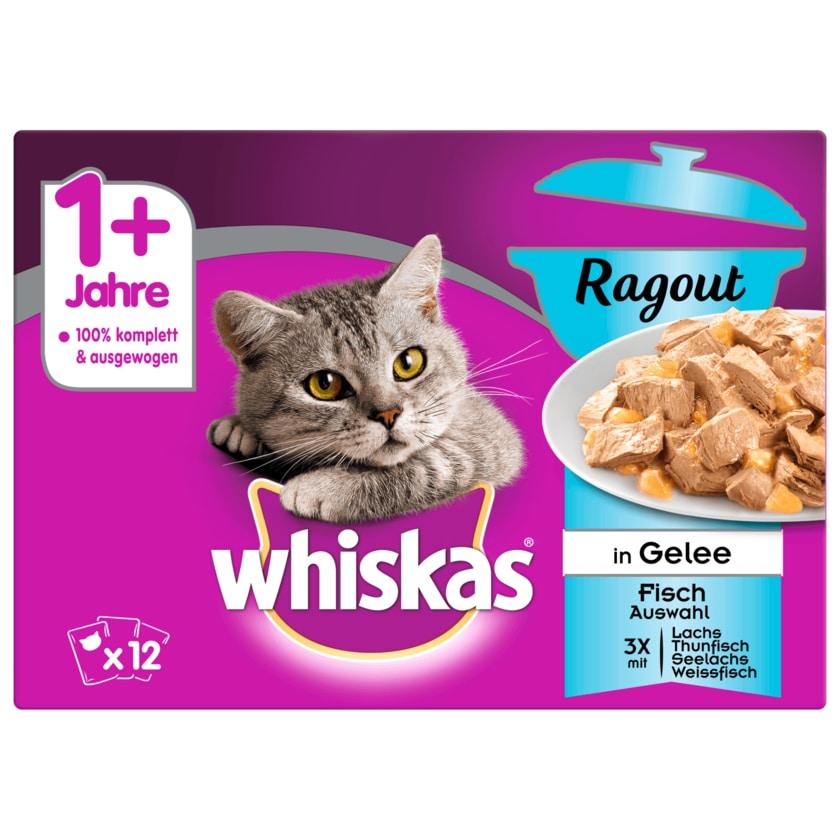 Whiskas 1+ Ragout Fischauswahl in Gelee 12x85g