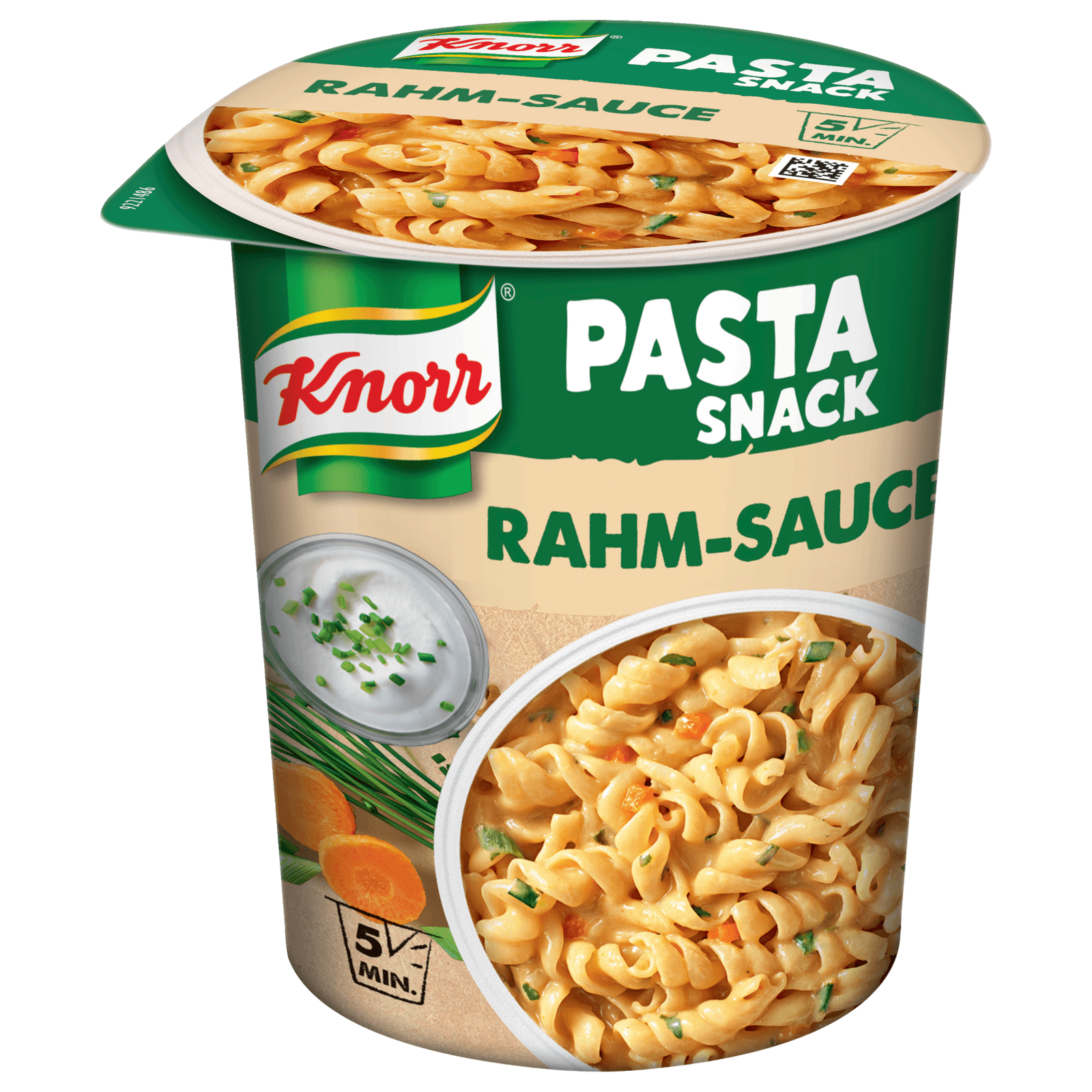 Knorr Pasta Snack Nudeln in Rahm-Sauce 69g