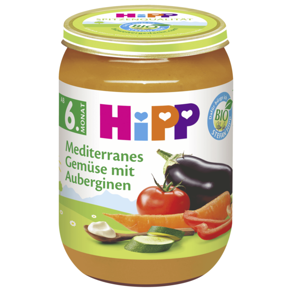 Hipp Mediteranes Gemüse mit Aubergine 190g