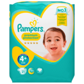 Pampers Premium Protec Maxi Gr. 4+ Sparpack 21 Stück