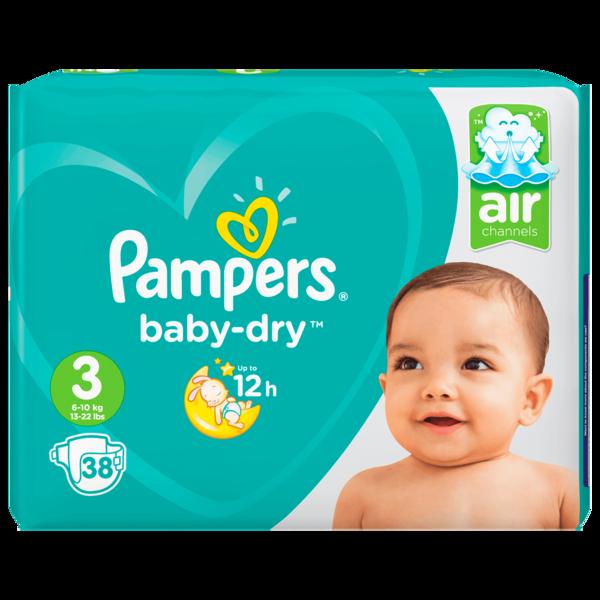 Pampers Baby Dry Gr.3 Midi 6-10kg Sparpack 38 Stück