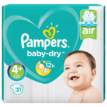 Pampers Baby Dry Gr.4+ Maxi Plus 10-15kg Sparpack 31 Stück