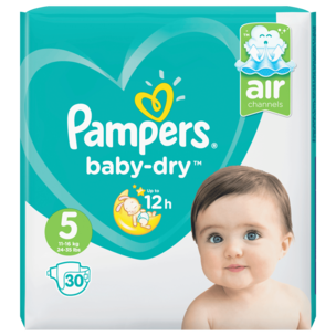 Pampers Baby Dry Gr.5 11-16kg 30 Stück